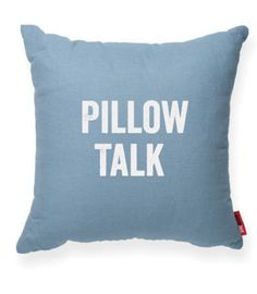 """""""""""Pillow Talk"""""""" Decorative Throw Pillow"""