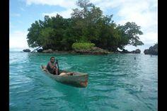 Solomon Islands, small island off foloi community