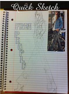 Sketching Free People Sketch Free, Quick Sketch, Sketching, Free People, Doodles, Sketch, Sketches, Donut Tower, Tekenen