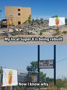 Local Super 8 is rebuilt because of a spider.