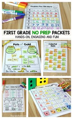 Are you ready for the month of March? We are all geared up for some fun learning this month! Our March NO PREP packets are done and we are ready to go! First Year Teaching, Teaching Reading, Teaching Math, 1st Grade Math Worksheets, Phonics Worksheets, Core Learning, Kids Learning, First Grade, Grade 1