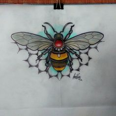 Image result for traditional bee tattoo