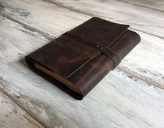 Brown Leather Book Cover Leather Journal Case Journal Cover Bible cover Leather Book Cover Leather Notebook Custom Order valentine's gift Leather Bible Cover, Leather Book Covers, Leather Books, Leather Notebook, Leather Gifts, Leather Pieces, Leather Journal, Crazy Horse, Leather Festival Bags
