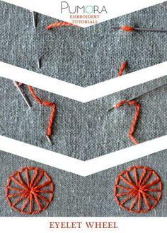 eyelet wheel stitch tutorial