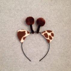 1 quantity headband Giraffe Jungle animal ears by Partyears