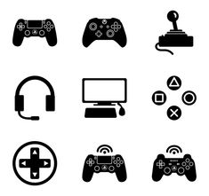Video Game Symbols, Video Game Art, Game Truck Party, Playstation Logo, Cricut, Skull Logo, Printable Pictures, Cute Fonts, Gamer Humor
