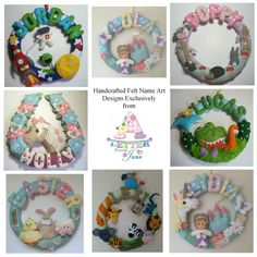 CUSTOM SLOT - Personalised bedroom nursery decor name wreath - pinned by pin4etsy.com