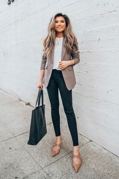 Fall Work Outfit Ideas with Ann Taylor - Miss Louie - Business Casual Outfits for Women Casual Work Outfits, Winter Outfits For Work, Mode Outfits, Work Casual, Summer Outfit, Fall Work Clothes, Fall Teacher Outfits, Preppy Work Outfit, Black Work Outfit