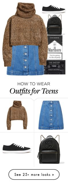 """""""theres a darker side of me that makes you feel numb"""" by grunge-alien on Polyvore featuring Gucci, New Look, H&M and Forever 21"""