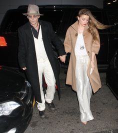 Pin for Later: Johnny Depp and Amber Heard Have a Broadway Date Night