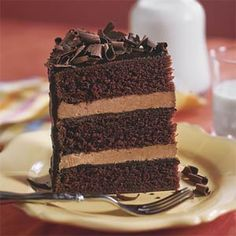This Impressive Chocolate Cake Recipe Features Three Layers Of Tender And Two