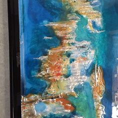 """My handmade resin ink and metallic paint. """"Island time"""" SOLD"""
