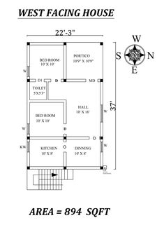 Autocad Drawing file shows 2bhk House Plan, Three Bedroom House Plan, Model House Plan, House Layout Plans, Duplex House Plans, Architect Design House, Bungalow House Design, Small House Design, Bungalow Designs