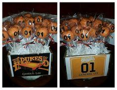 Dukes of Hazzard cake pops