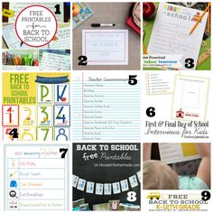 15 Fun and Free Back to School Printables - Mama's Got It Together