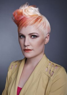 fun cut and color. try Goldwell Elumen for the bright pops of color