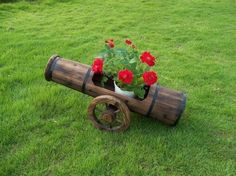 traditional outdoor wooden cannon
