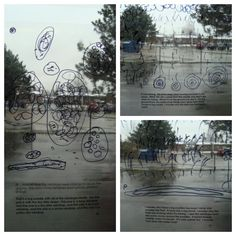 Using the environment as the third teacher: Transparencies, permanent black markers and the classroom window, made for a perfect provocation to entice the children. There is a lot to see on a rainy day! ≈ ≈