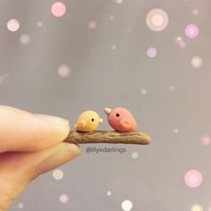 Polymer clay sweet birds