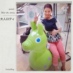 Instagram media purpleyukari26 - 大人用のロディに乗りたいという念願叶ったw これ、378000円で売ってるらしい…( ¤̴̶̷̤́ ‧̫̮ ¤̴̶̷̤̀ ) ・ ・ 買って〜〜〜(੭ु ˃̶͈̀ ω ˂̶͈́)੭ु⁾⁾ ・ ・ ・ #ロディ #大丸 #大人ロディ #人目気にせず #夏恋さん寝てる #夏恋さん抱いてなかったらまたいで乗ってた #夏恋さんとおそロディしたい #パパちゃん買って