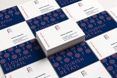 Portfolio project: Flourish Retail logo and business card design | Beehive Green Design Studio