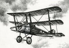 Sopwith Triplane 1917 Drawing