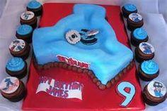 Stadium Beyblade birthday cake