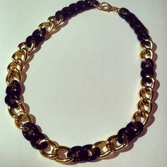 Gold chain necklace chunky gold chain link by McIntoshJewelry,