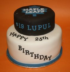 My Birthday Cake? 25th Birthday Cakes, Happy 25th Birthday, Hockey Cakes, Cake Decorating, Decorating Ideas, Pastry Shop, Toronto Maple Leafs, Occasion Cakes, Cake Creations