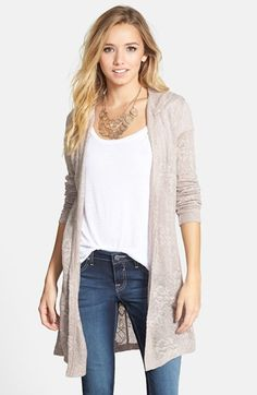 BP. Hooded Cardigan (Juniors) available at #Nordstrom