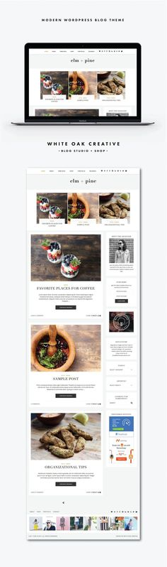 Elm + Pine is a timeless, clean, and feminine WordPress blog theme, ideal for style publishers. With popular features such as full-width Instagram footer area, truncated post view, thumbnail category and archive templates, customize sidebar and navigation area, Elm + Pine's sure to wow your audience! wordpress blog theme, blog design, style blog, fashion blog, premade theme, wordpress premade blog design, affordable blog design