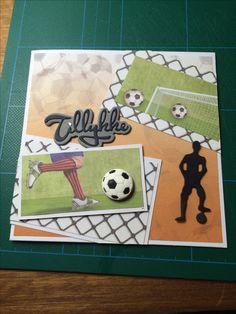 Kort / Card Fodbold / Soccer Tillykke / Congratulations Dreng / Boy Hjemmelavet / Homemade