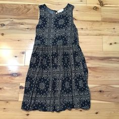 Altard State dress Navy and rust patterned dress Altar'd State Dresses Mini