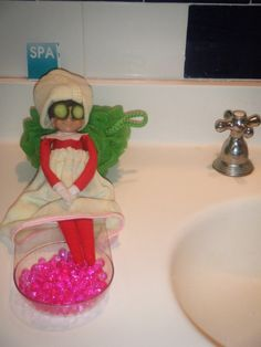 Cute spa #elfontheshelf