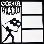 EZLaserDesigns : Color Guard  scrapbook overlay layout