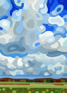 monocromatic - Abstract Landscape Painting - Mandy Budan: Big Sky    ...BTW,Please Check this out:  http://artcaffeine.imobileappsys.com