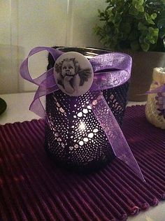 Ravelry: Mia Lyslykt/ Candle cozy pattern by Silje Camelie Crochet Home, Knit Crochet, Ravelry, Beautiful Patterns, Jar, Cozy, Candles, Knitting, Glass