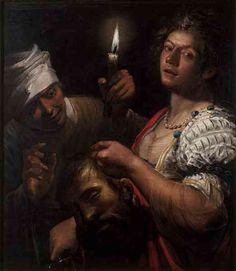 """Judith Holding the Head of Holofernes"" Matteo Ponzoni (c.1650), oil on canvas, 90.3 x 79.4 cm, Victoria and Albert Museum, London, UK"