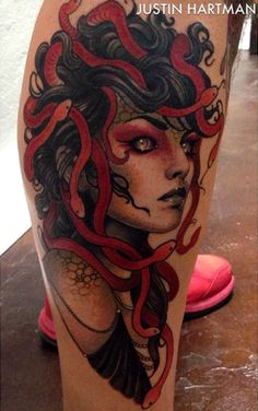 Color Medusa Tattoo done by Justin Hartman Medusa Tattoo Design, Tattoo Designs, Tattoo You, Arm Tattoo, Body Art Tattoos, Sleeve Tattoos, Tatoos, Piercings, Fusion Ink