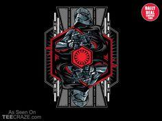 Captain Phasma T-Shirt - http://teecraze.com/captain-phasma-t-shirt/ -  Designed by alienbiker23    #tshirt #tee #art #fashion #clothing #apparel #StarWars