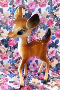 Vintage Kitsch Deer  So Cute by rebeccaheartsvintage on Etsy, £20.00