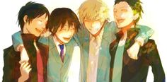 Izaya, Shinra, Shizuo, Kyohei. <3<3 I wish this is how they really were