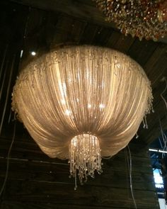 chandelier - could diy with a hula hoop and smaller hoop with tulle?