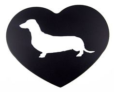Metal Dachshund Weiner Dog Silhouette or Any Breed Heart Sign Wall Decor