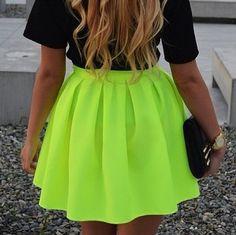 la falda verde