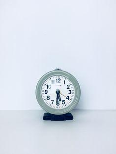 Radziecki budzik lata 70. | Russian alarm clock, 70s. | buy on Patyna.pl | #forsale #vintage #vintagefinds #vintageshop #vintagelove #retro #old #design #home #midcenturymodern #want #amazing #home #inspiration #kitchen #decoration #furniture #clock #metal #blue #ussr #time #70s #1970s #hockiklocki Vintage Love, Vintage Shops, Electronics Gadgets, Midcentury Modern, Alarm Clock, 1970s, Xmas, Retro, Decoration