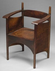 Charles Rennie Mackintosh (1868-1928) - Oak Arm Chair.