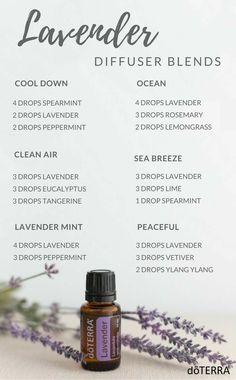 Lavender Diffuser Blends #EczemaEssentialOils