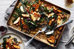 Roasted Sweet Potato, Chickpea, and Kale Sheet Pan Salad recipe on Food52