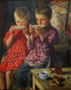 Nikolay Petrovich Bogdanov-Belsky ~ Genre 1894 russia